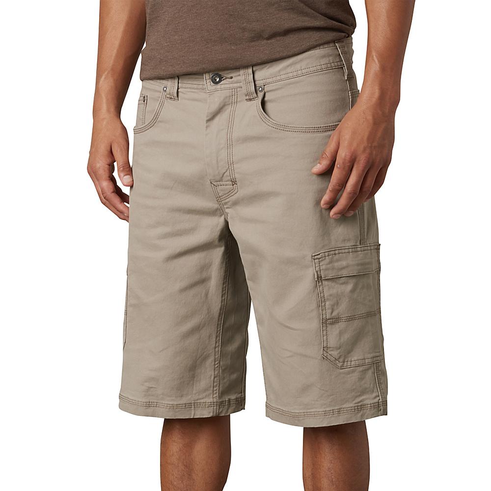 PrAna Murray Relaxed Fit Shorts 33 - Dark Khaki - PrAna Mens Apparel - Apparel & Footwear, Men's Apparel