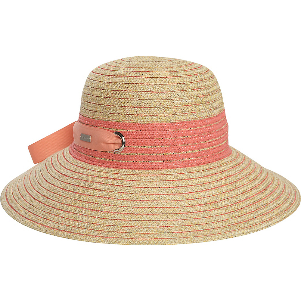 Betmar New York Jasmine Hat One Size - Natural/Coral - Betmar New York Hats/Gloves/Scarves