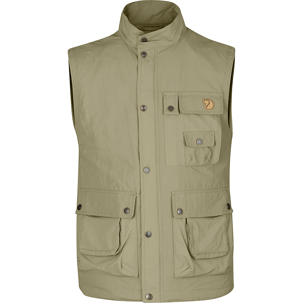 Fjallraven Wild Vest MT S - Light Khaki - 44 - Fjallraven Mens Apparel - Apparel & Footwear, Men's Apparel