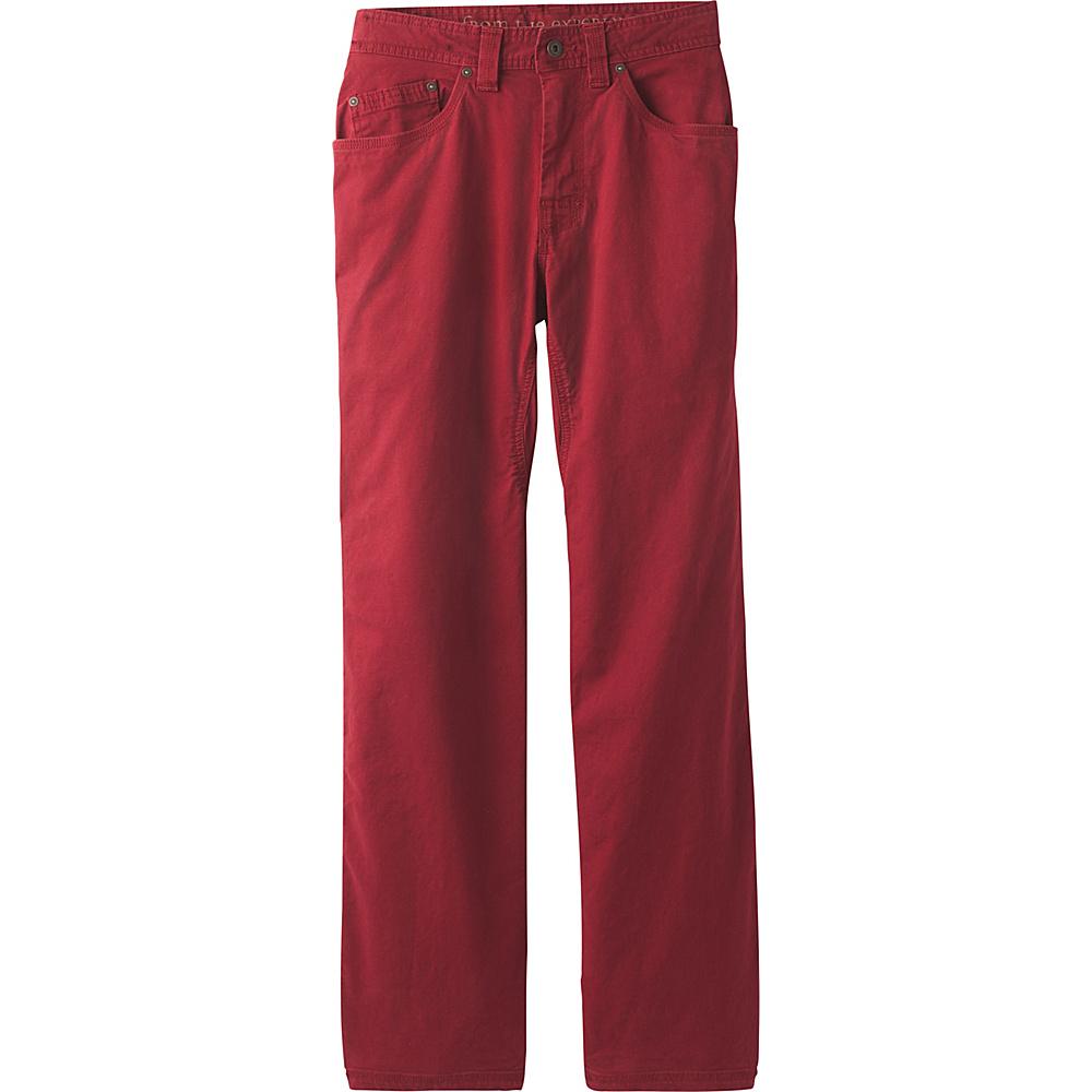 PrAna Bronson Pants - 32 Inseam 30 - Crimson - PrAna Mens Apparel - Apparel & Footwear, Men's Apparel