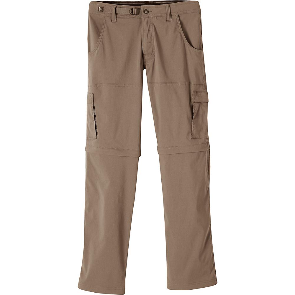 PrAna Stretch Zion Convertible Pants - 34 28 - Mud - PrAna Mens Apparel - Apparel & Footwear, Men's Apparel