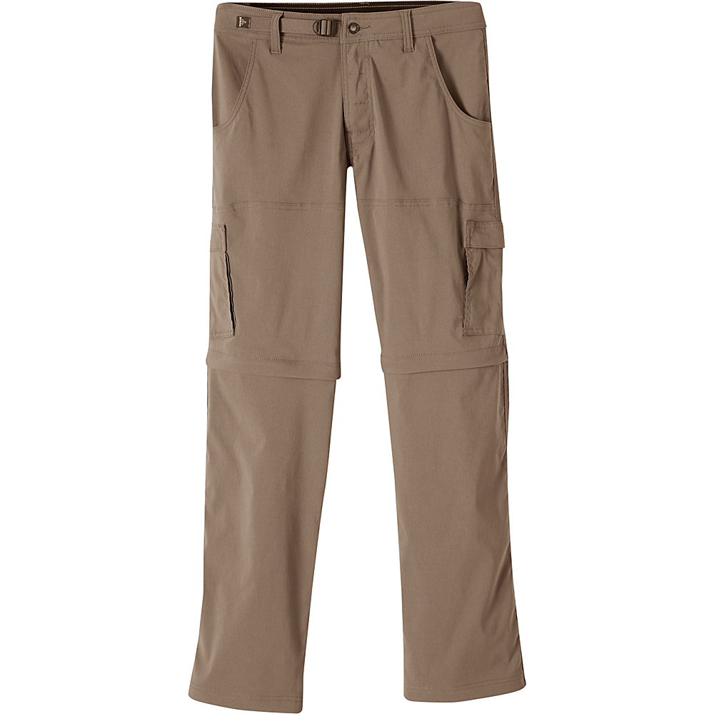 PrAna Stretch Zion Convertible Pants - 34 32 - Mud - PrAna Mens Apparel - Apparel & Footwear, Men's Apparel