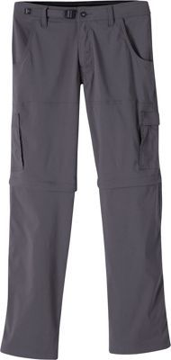 PrAna Stretch Zion Convertible Pants - 34 inch 30 - Charcoal - PrAna Men's Apparel