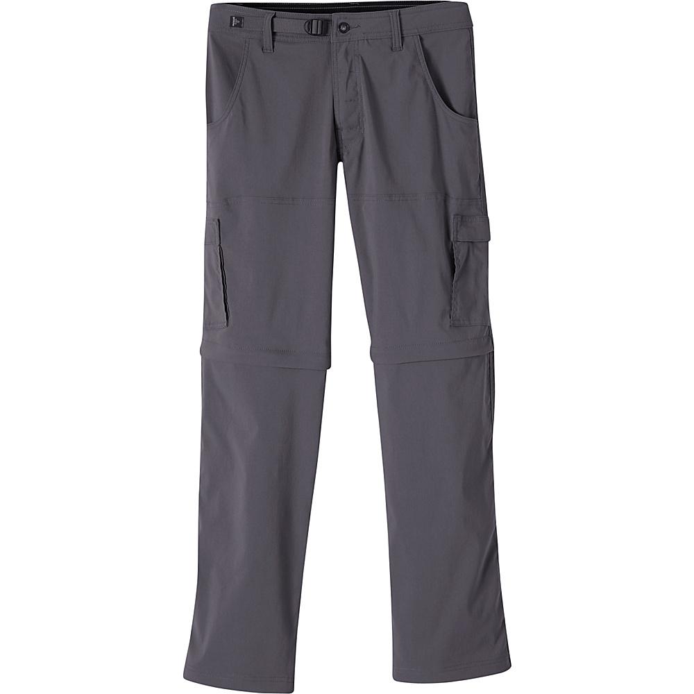PrAna Stretch Zion Convertible Pants - 34 32 - Charcoal - PrAna Mens Apparel - Apparel & Footwear, Men's Apparel