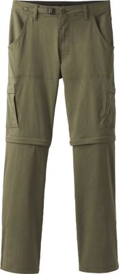 PrAna Stretch Zion Convertible Pants - 34 inch 33 - Charcoal - PrAna Men's Apparel
