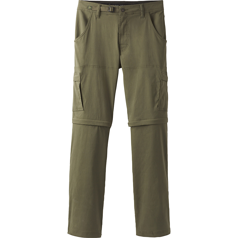 PrAna Stretch Zion Convertible Pants - 34 32 - Cargo Green - PrAna Mens Apparel - Apparel & Footwear, Men's Apparel