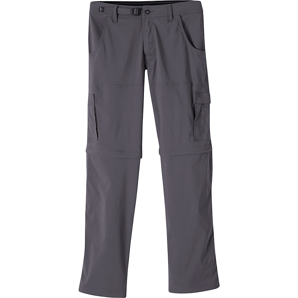 PrAna Stretch Zion Convertible Pants - 34 36 - Charcoal - PrAna Mens Apparel - Apparel & Footwear, Men's Apparel