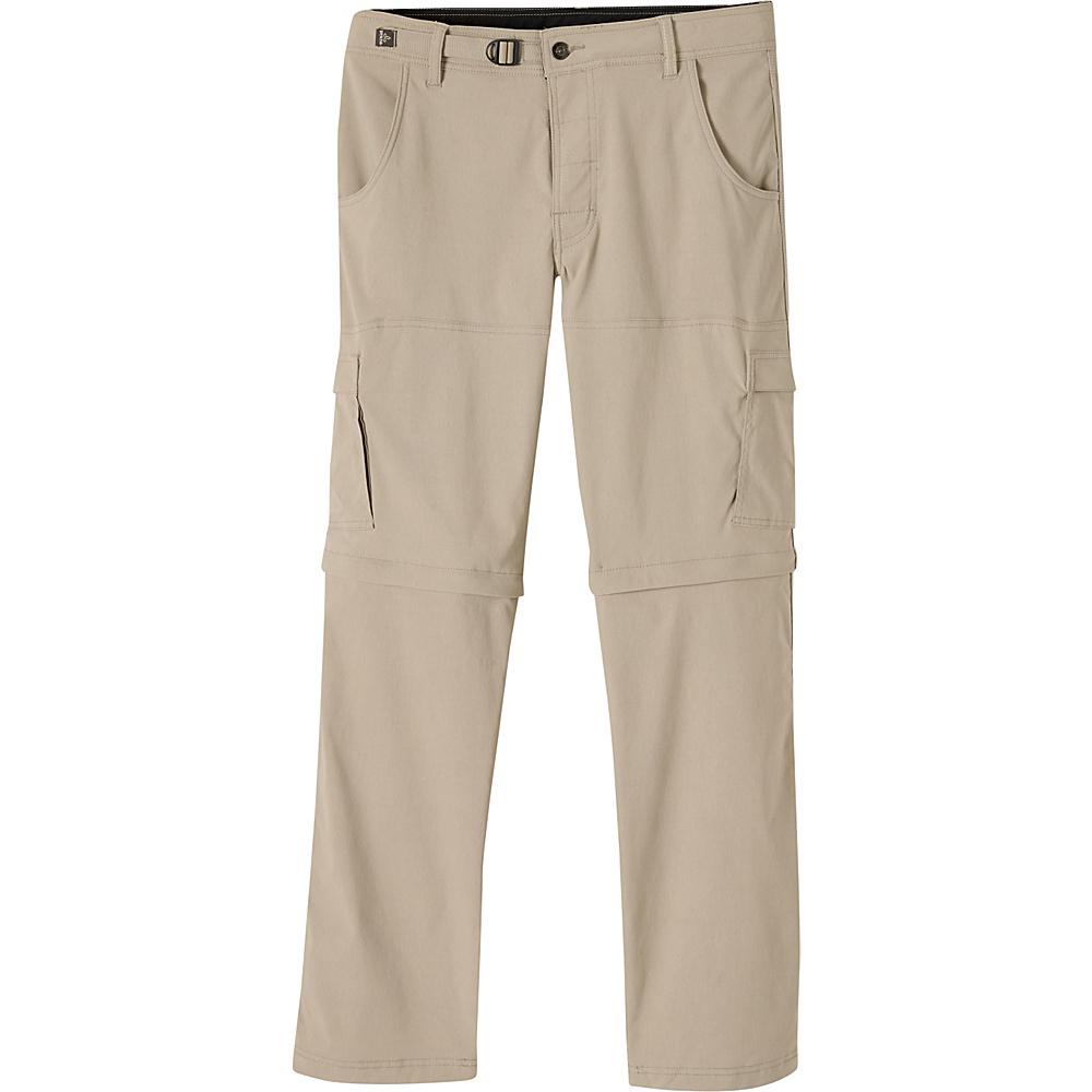 PrAna Stretch Zion Convertible Pants - 34 28 - Dark Khaki - PrAna Mens Apparel - Apparel & Footwear, Men's Apparel