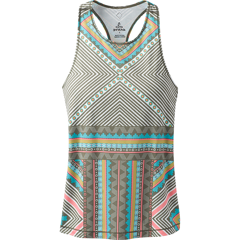 PrAna Boost Printed Top S - Green Taos - PrAna Womens Apparel - Apparel & Footwear, Women's Apparel