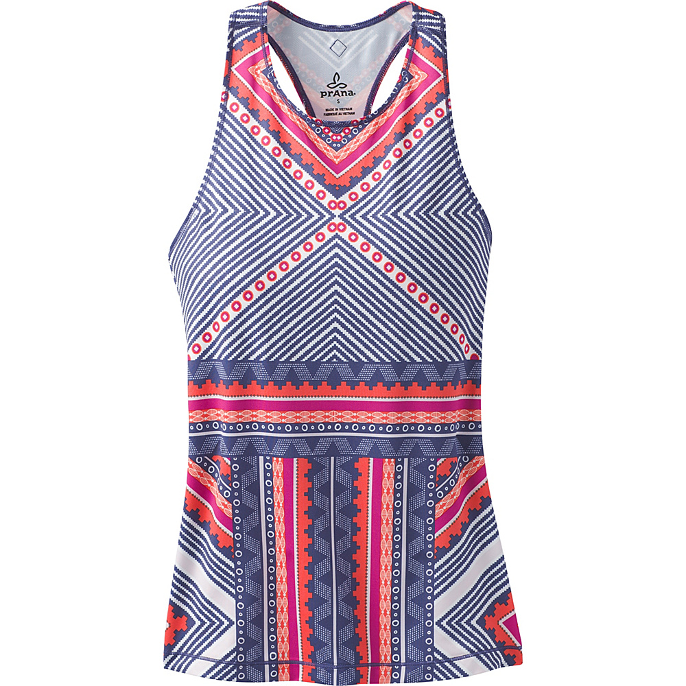 PrAna Boost Printed Top XS - Indigo Taos - PrAna Womens Apparel - Apparel & Footwear, Women's Apparel