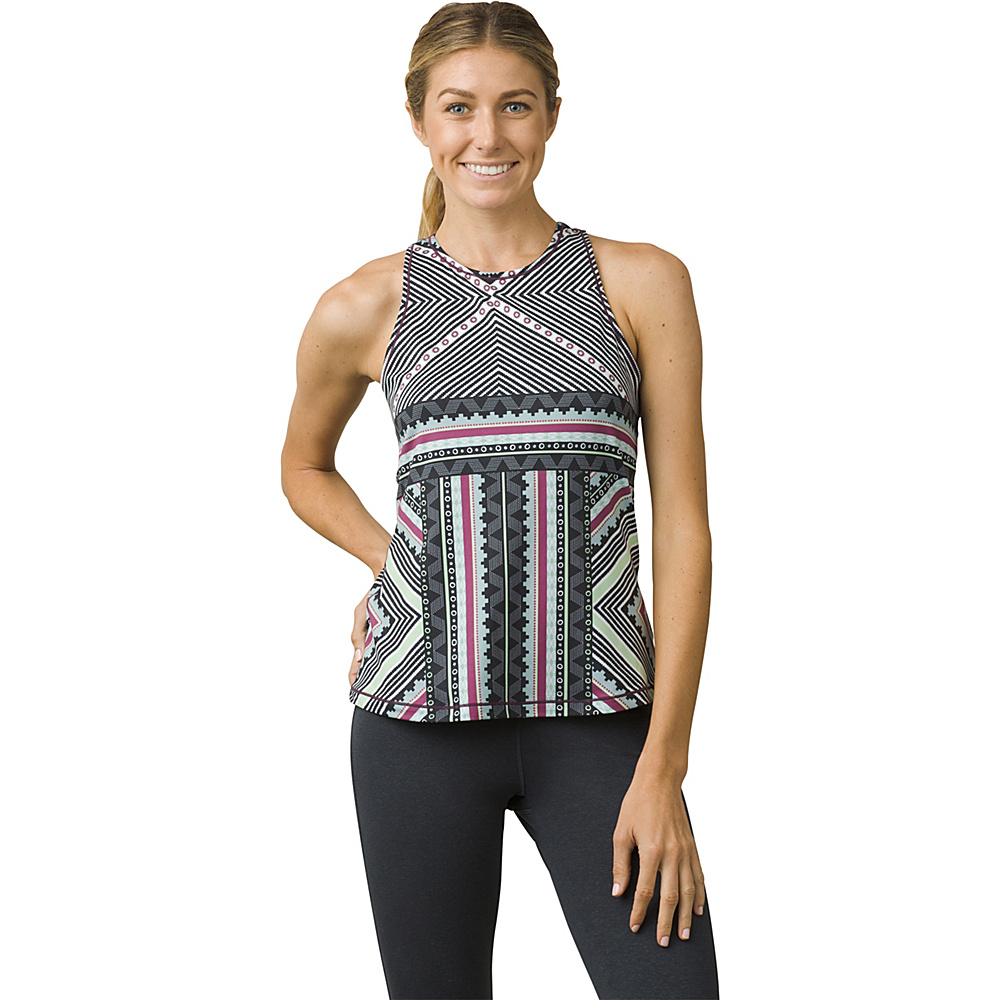 PrAna Boost Printed Top S - Sangria Taos - PrAna Womens Apparel - Apparel & Footwear, Women's Apparel