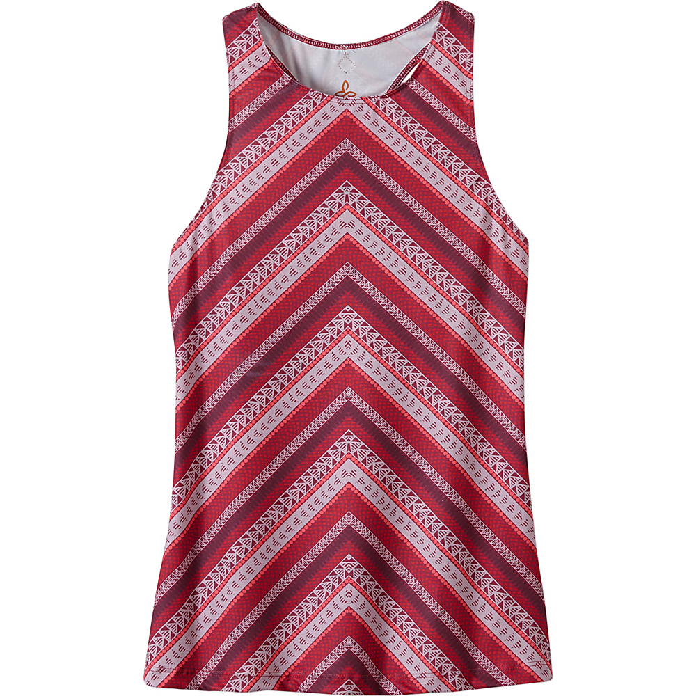 PrAna Boost Printed Top XL - Sunwashed Red - PrAna Womens Apparel - Apparel & Footwear, Women's Apparel