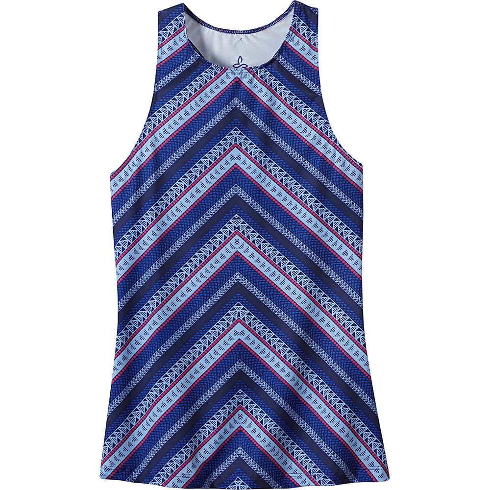 PrAna Boost Printed Top L - Bluebell - PrAna Womens Apparel - Apparel & Footwear, Women's Apparel