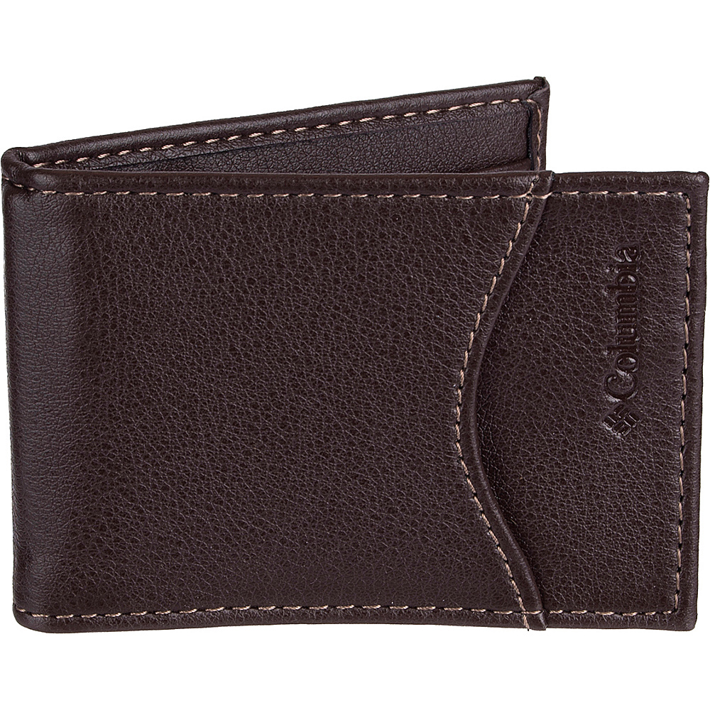 Columbia Front Pocket Wallet with RFID Protection Brown Columbia Men s Wallets