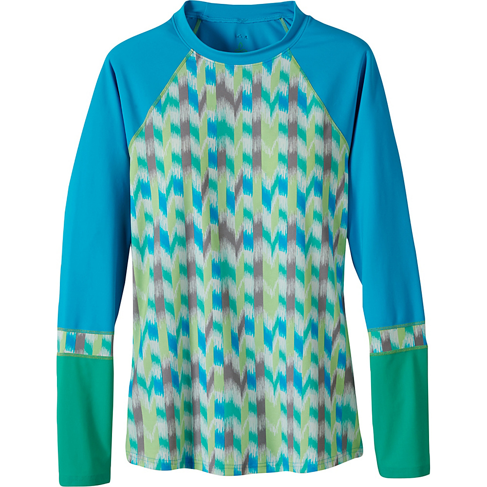 PrAna Lorelei Sun Top L - Cool Green Ikat - PrAna Womens Apparel - Apparel & Footwear, Women's Apparel
