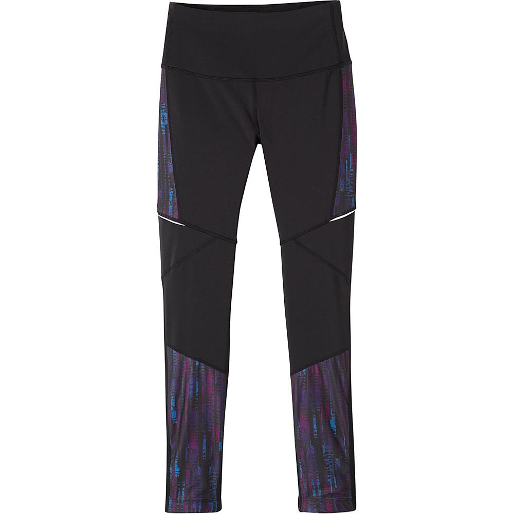 PrAna Ergo Leggings XS - Black Kaleidoscope - PrAna Womens Apparel - Apparel & Footwear, Women's Apparel