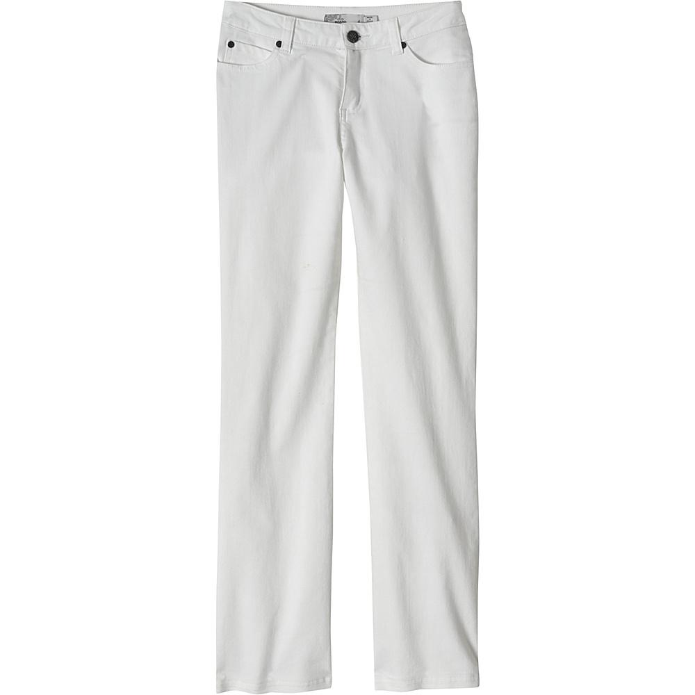 PrAna Jada Organic Jeans - Tall Inseam 0 - White - PrAna Womens Apparel - Apparel & Footwear, Women's Apparel