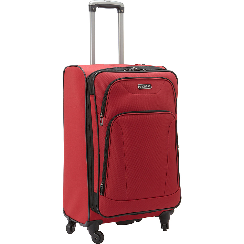 Heritage Wicker Park 24 Luggage Red Heritage Softside Checked