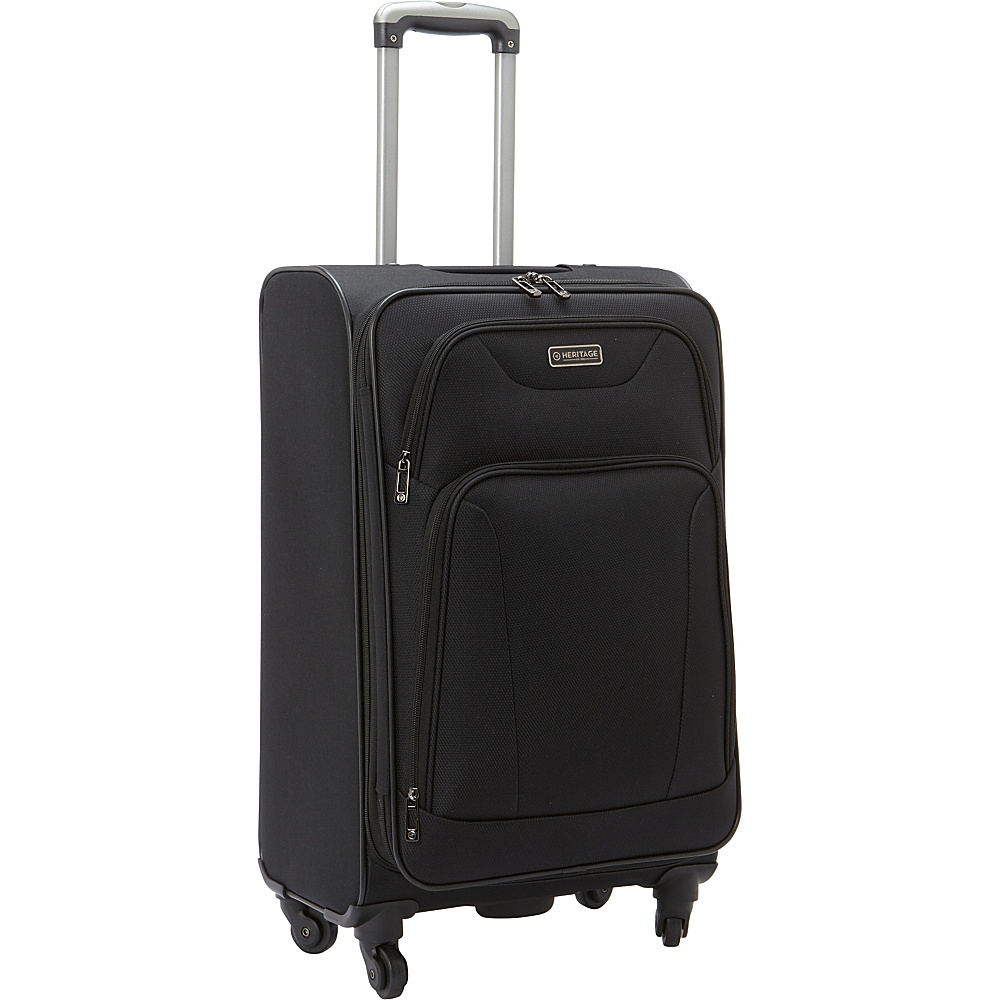 Heritage Wicker Park 24 Luggage Black Heritage Softside Checked