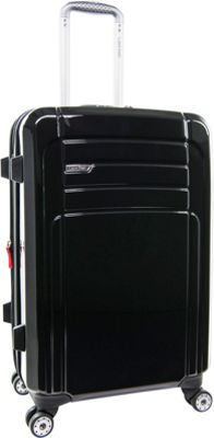 Calvin Klein Luggage Rome 25 Upright Hardside Spinner Black - Calvin Klein Luggage Hardside Checked