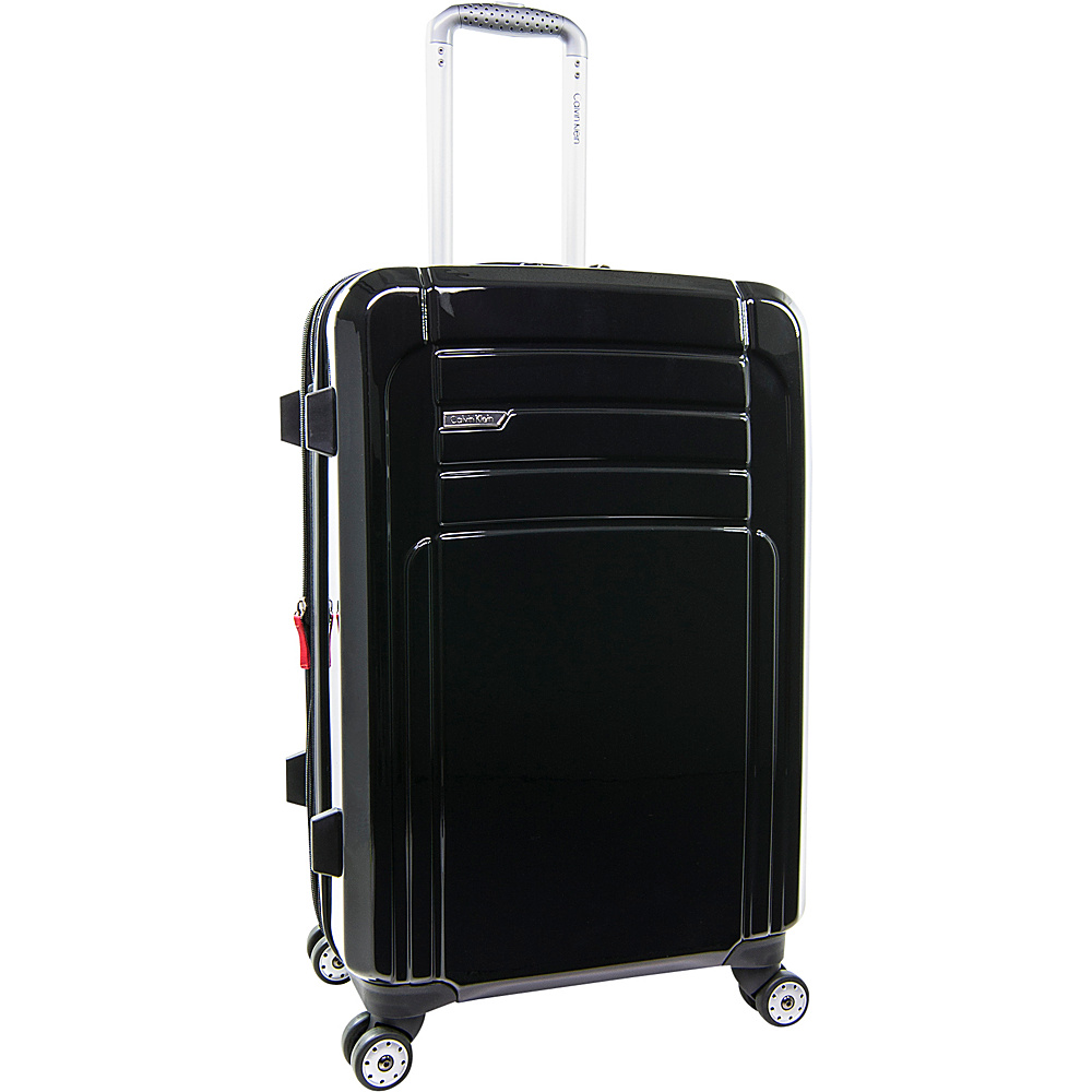 Calvin Klein Luggage Rome 25 Upright Hardside Spinner Black Calvin Klein Luggage Hardside Checked