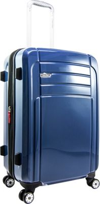 Calvin Klein Luggage Rome 25 Upright Hardside Spinner Blue - Calvin Klein Luggage Hardside Checked