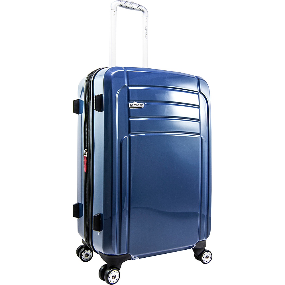 Calvin Klein Luggage Rome 25 Upright Hardside Spinner Blue Calvin Klein Luggage Hardside Checked