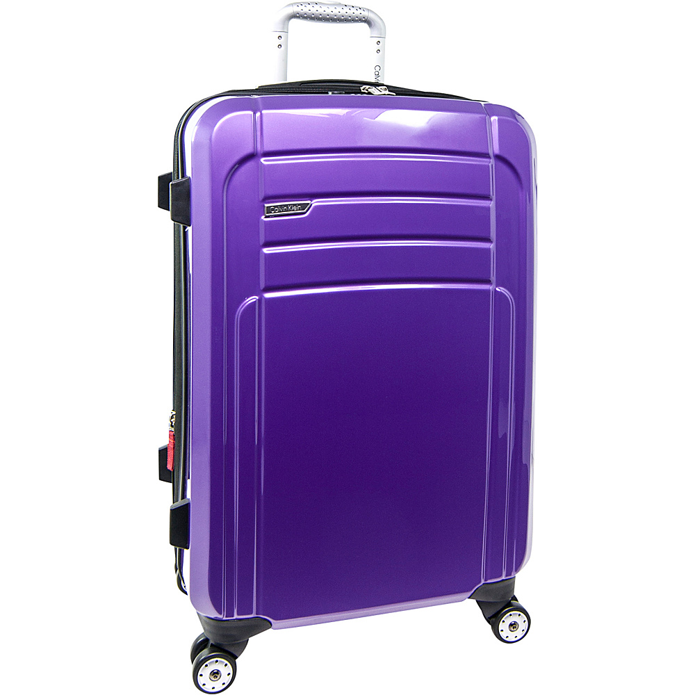 Calvin Klein Luggage Rome 25 Upright Hardside Spinner Plum Calvin Klein Luggage Hardside Checked