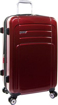 Calvin Klein Luggage Rome 25 Upright Hardside Spinner Red - Calvin Klein Luggage Hardside Checked