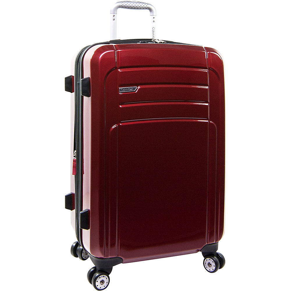 Calvin Klein Luggage Rome 25 Upright Hardside Spinner Red Calvin Klein Luggage Hardside Checked