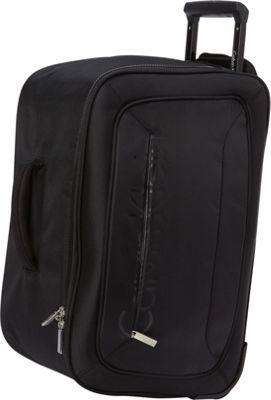 Calvin Klein Luggage Tremont 21 Wheeled Softside Travel Duffel Black - Calvin Klein Luggage Travel Duffels