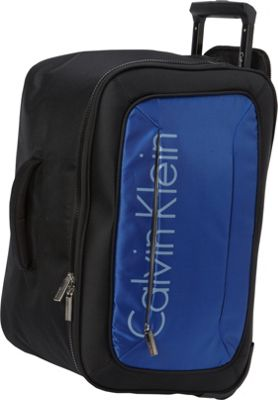Calvin Klein Luggage Tremont 21 Wheeled Softside Travel Duffel Blue - Calvin Klein Luggage Travel Duffels