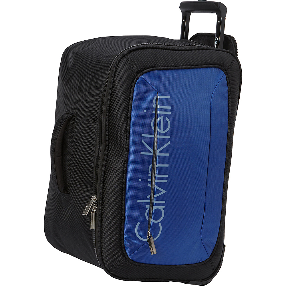 Calvin Klein Luggage Tremont 21 Wheeled Softside Travel Duffel Blue Calvin Klein Luggage Travel Duffels