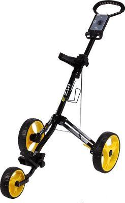 Hot-Z Golf Bags 3.0 - 3 Wheel Push Cart Black - Hot-Z Golf Bags Golf Bags