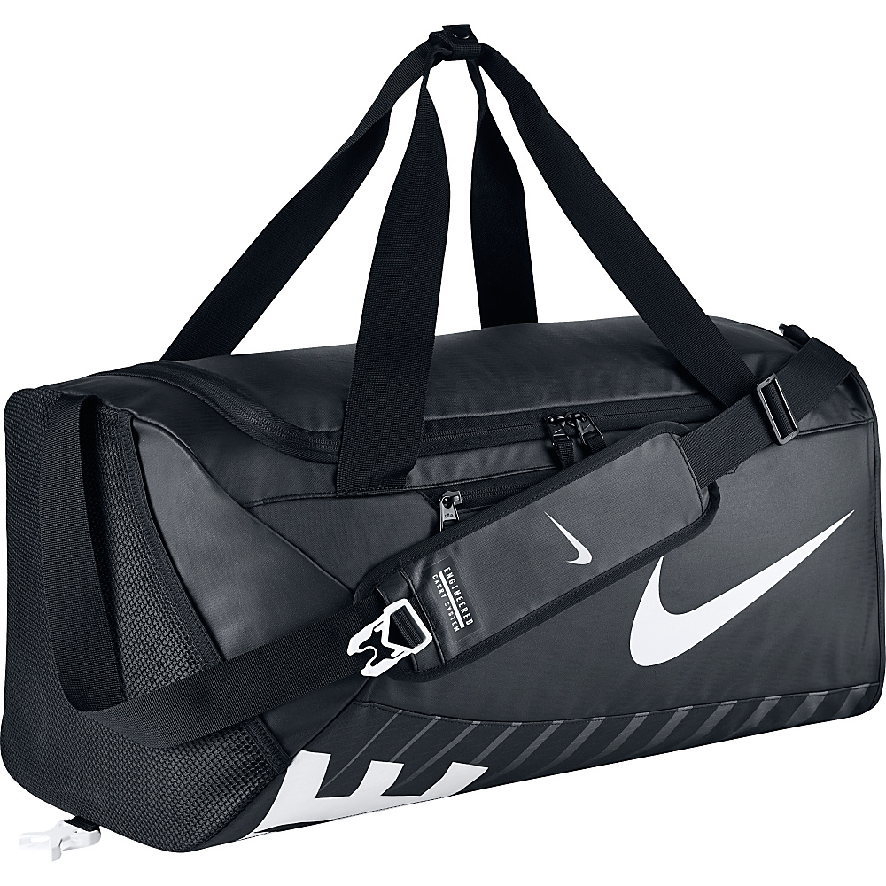 Nike Alpha Adapt Crossbody Duffel Medium Black Black White Nike Gym Duffels
