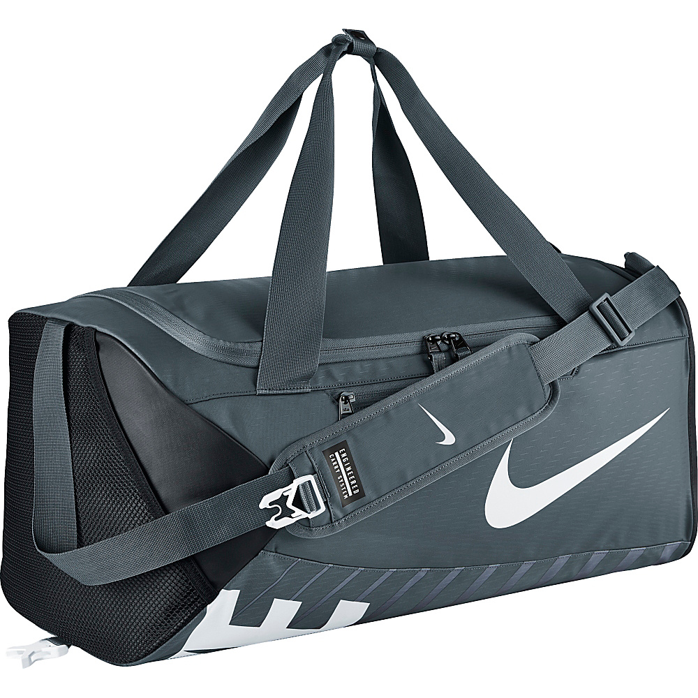 Nike Alpha Adapt Crossbody Duffel Medium Flint Grey Black White Nike Gym Duffels