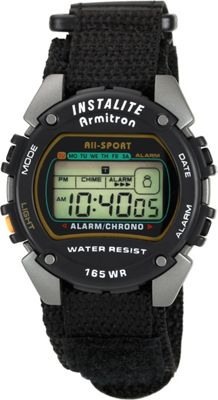 Armitron Sport Mens Chronograph Instalite Black Digital W...