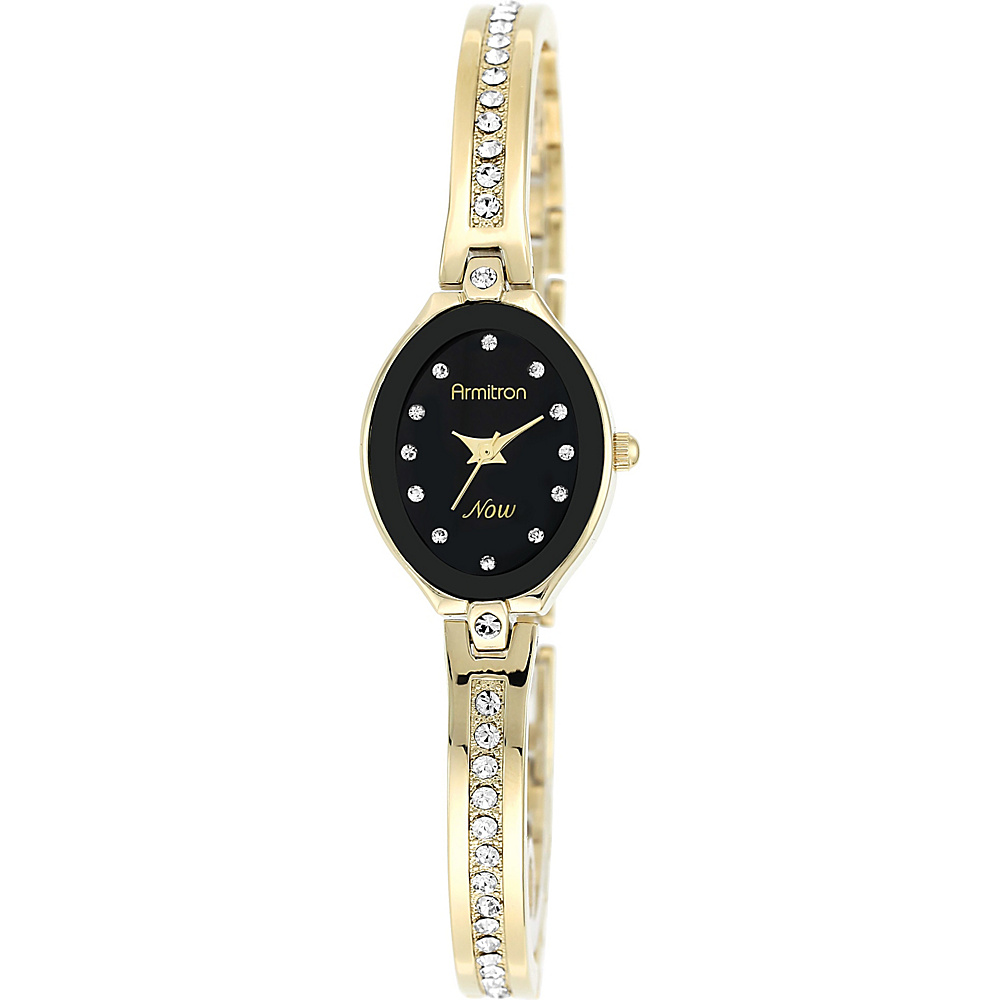 Armitron Womens Swarovski Crystal Accented Bangle Watch Gold Armitron Watches