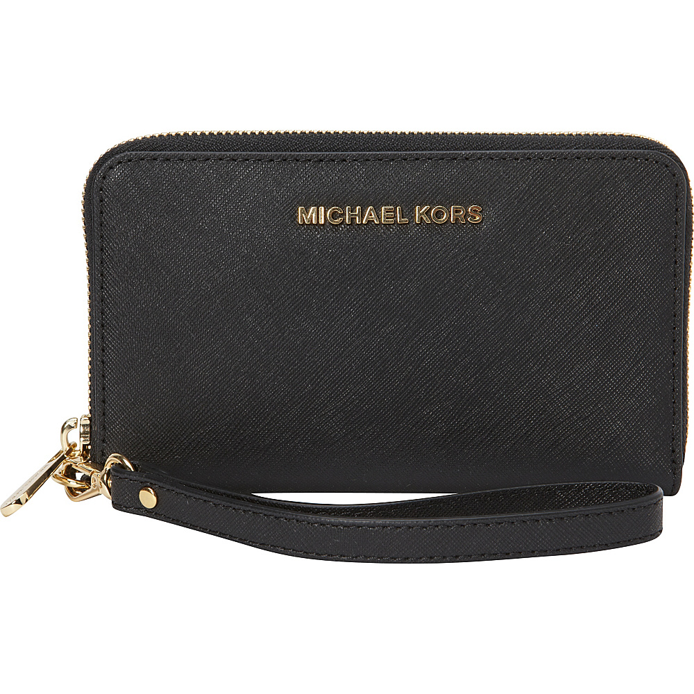 MICHAEL Michael Kors Jet Set Travel Large Flat Multifunction Phone Case Black MICHAEL Michael Kors Women s Wallets