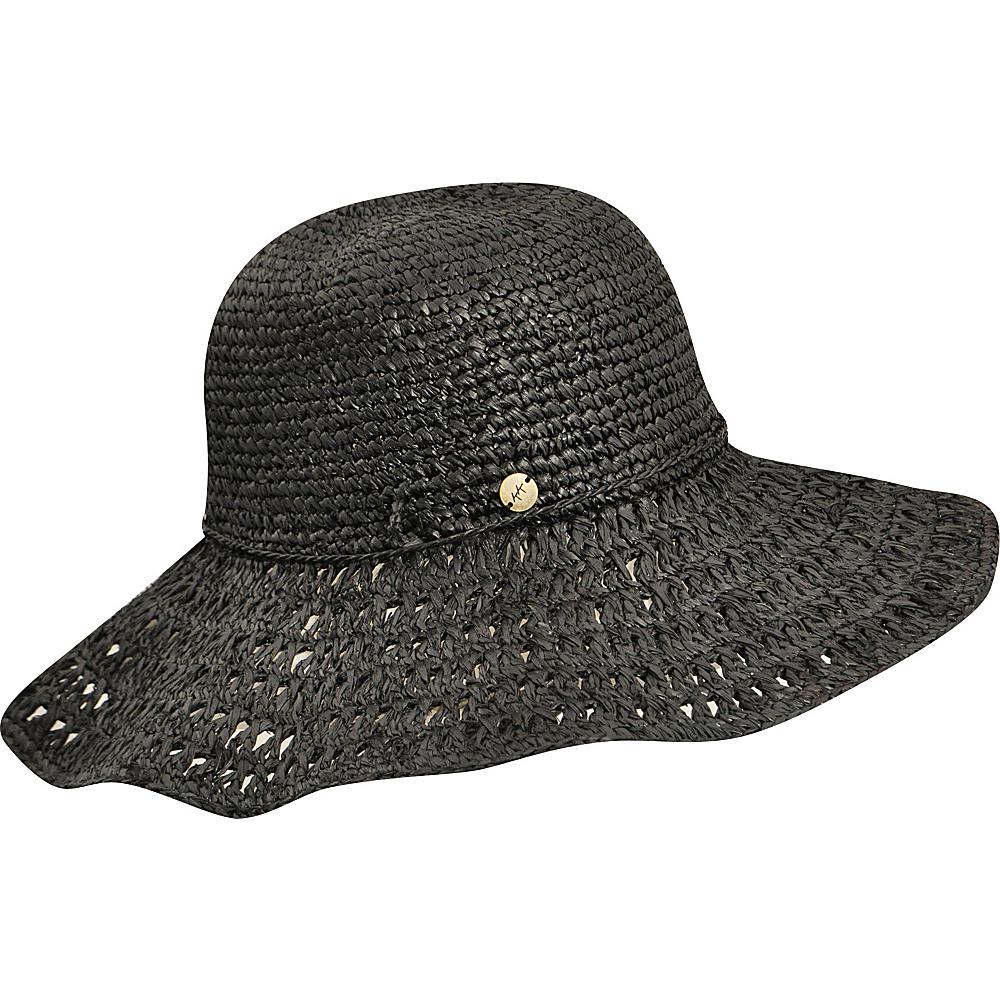 Karen Kane Hats Raffia Straw Packable Floppy Hat Black Karen Kane Hats Hats Gloves Scarves