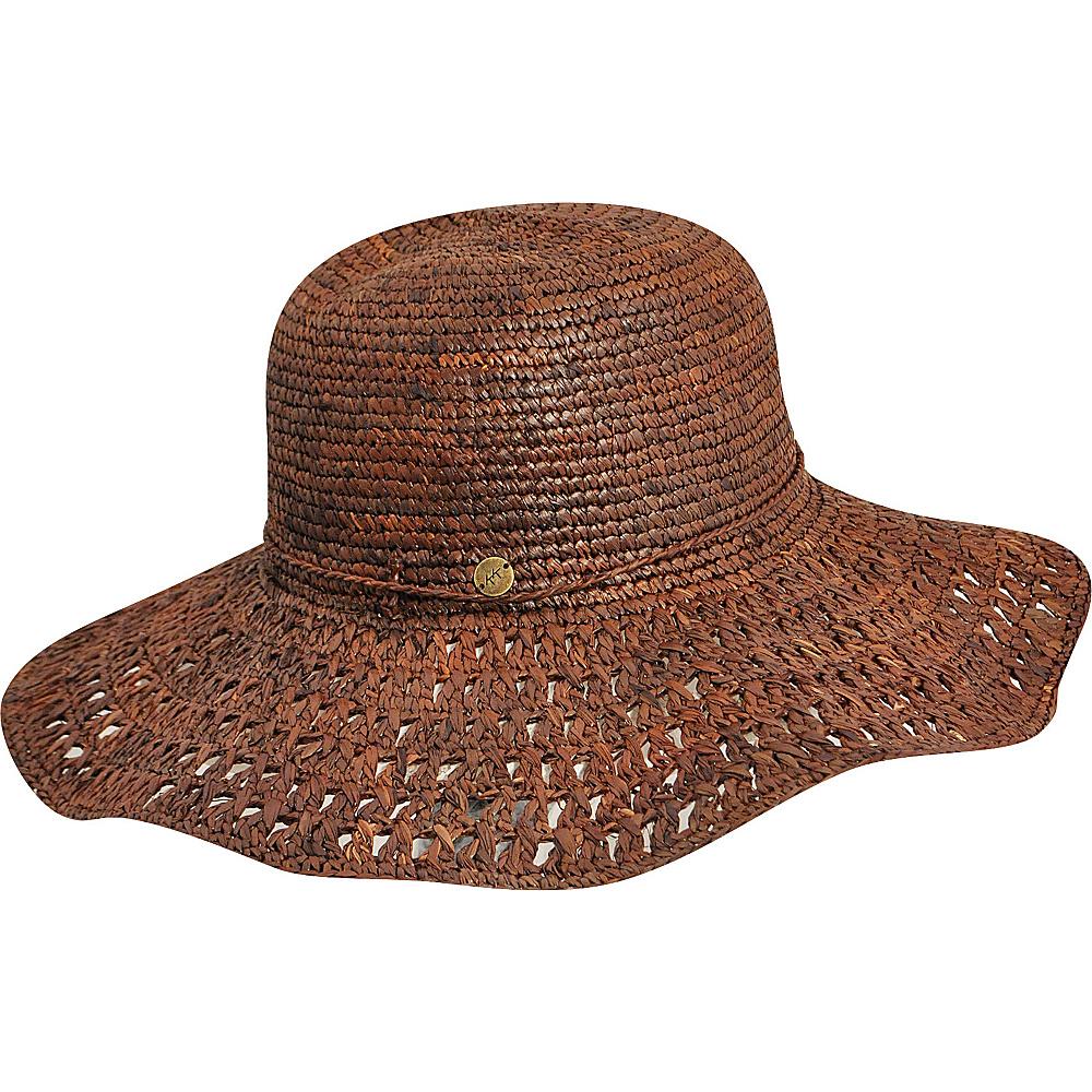 Karen Kane Hats Raffia Straw Packable Floppy Hat Cocoa Karen Kane Hats Hats Gloves Scarves