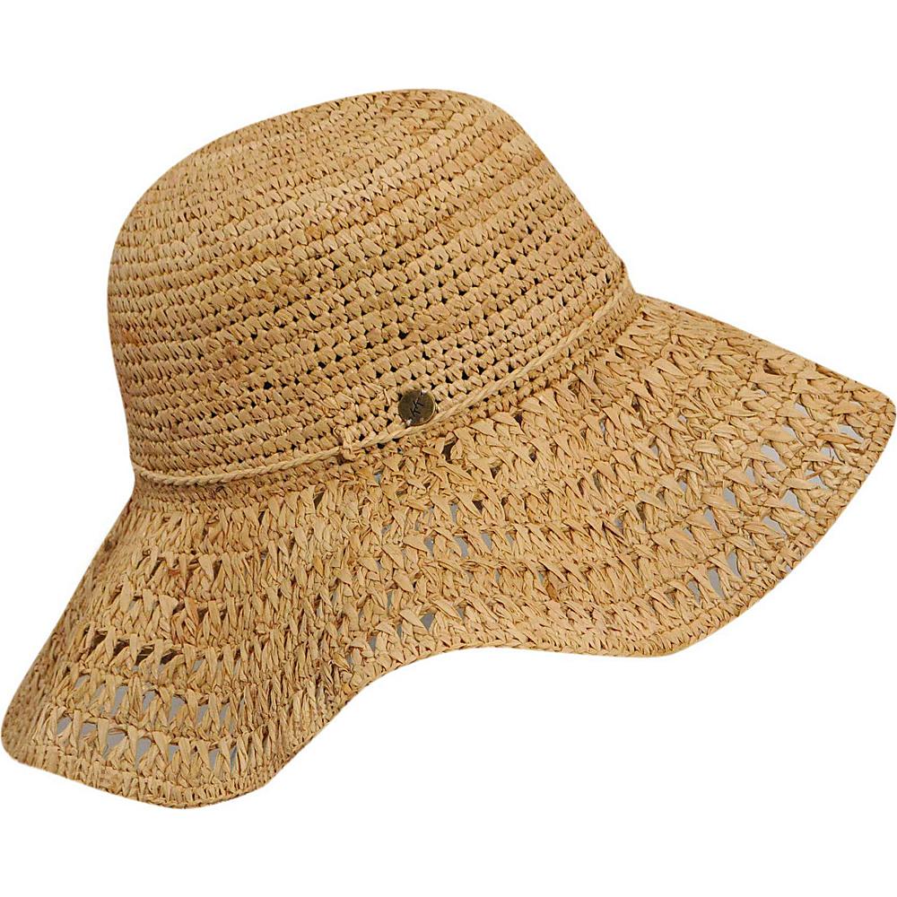 Karen Kane Hats Raffia Straw Packable Floppy Hat Honey Karen Kane Hats Hats Gloves Scarves
