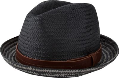 Ben Sherman Plaited Brim Trilby Hat S/M - Black - Ben Sherman Hats/Gloves/Scarves