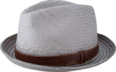 Ben Sherman Plaited Brim Trilby Hat L/XL - Light Grey - L/XL - Ben Sherman Hats/Gloves/Scarves