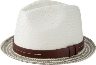 Ben Sherman Plaited Brim Trilby Hat S/M - Moon - Ben Sherman Hats/Gloves/Scarves
