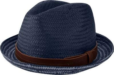 Ben Sherman Plaited Brim Trilby Hat S/M - Staples Navy - Ben Sherman Hats/Gloves/Scarves
