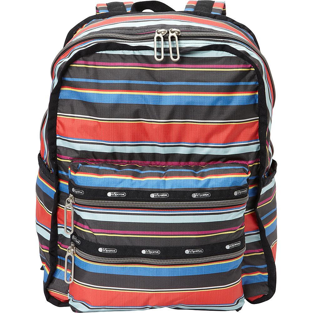 LeSportsac Functional Backpack Ribbon Stripe C LeSportsac Everyday Backpacks