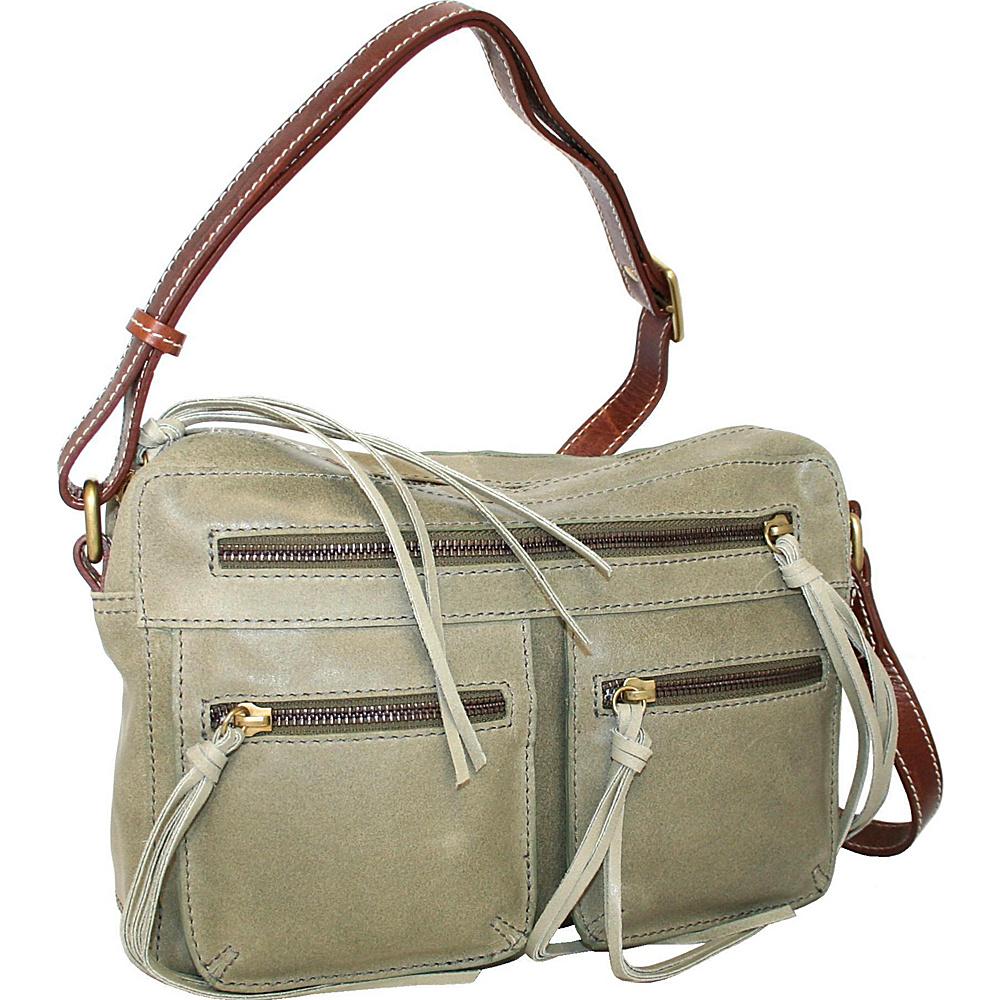 Nino Bossi Tess Teepee Crossbody Sea Foam - Nino Bossi Leather Handbags - Handbags, Leather Handbags