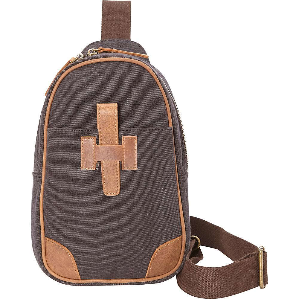Vagabond Traveler Cotton Canvas Chest Pack Travel Bag Grey - Vagabond Traveler Slings - Backpacks, Slings