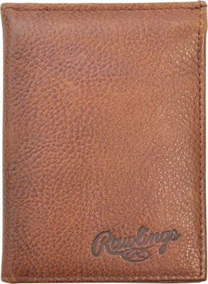 Rawlings Triple Play L Fold Wallet Cognac - Rawlings Men's Wallets